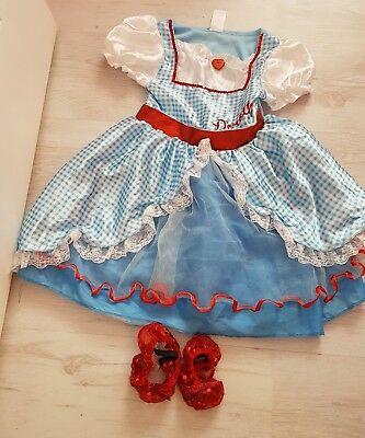 Dorothy Dress Wizard of Oz Costume Age 5-6 Years Small Fit 3-4-5