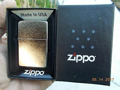 New in Box Zippo Lighter Brushed Chrome Finish