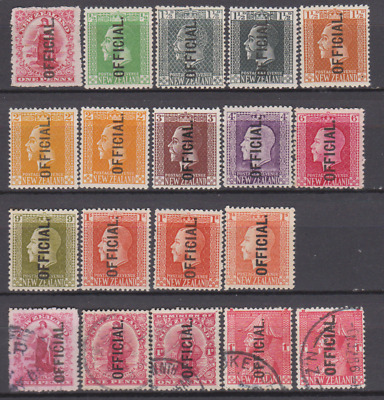 New Zealand 1907/20's Official Collection Mint Mounted & Used