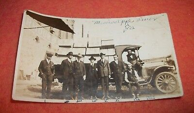 Early 1920's ARMOUR OATS Employees & Delivery Truck African American Photograph