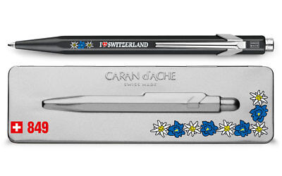 Caran d'Ache 849 TOTALLY SWISS EDELWEISS ballpoint pen 849.769, with holder