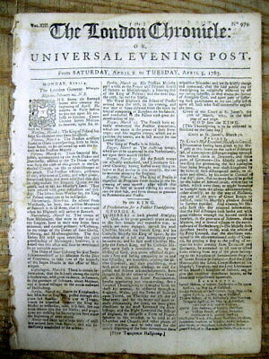 1763 London newspaper KING GEORGE III announces THE END of FRENCH & INDIAN WAR