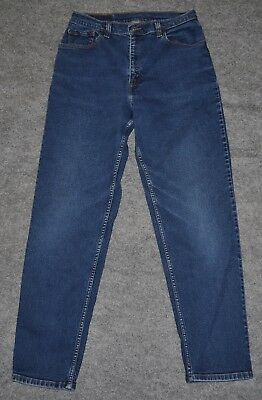 vintage LEVI'S 550 WOMENS RELAXED FIT TAPERED LEG Faded Blue Denim sz 10 jean