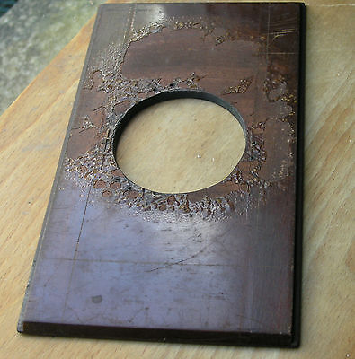 wooden lensboard 210mm x 118mm 5.6mm thick with  63.7mm hole used