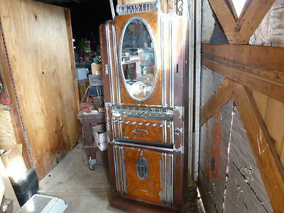 "Vintage 1940s Aurther DuGrenier ""Hotel"" Style Very Ornate Cigarette Machine ! !"