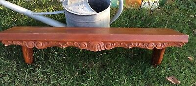 Antique Eastlake Style Vintage Victorian wooden Wood Wall Shelf Carved wood