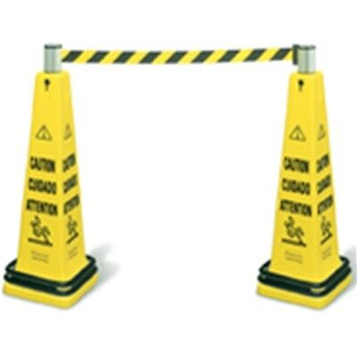 Rubbermaid FG628700YEL Yellow Safety Cone Barricade System