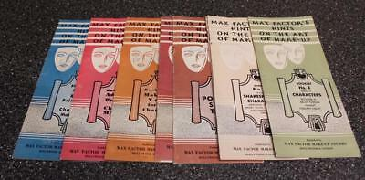Lot 8 Vtg 1938-1960 MAX FACTOR Make-Up Hints Booklets Stage Theater Characters