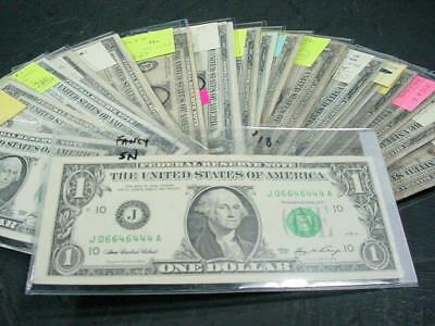 NobleSpirit NO RESERVE {RF} Interesting 96x 1935-2006 US $1 Note Collection