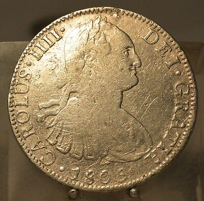 1806 TH Mexico Silver 8 Reales, Silver Dollar Size Coin