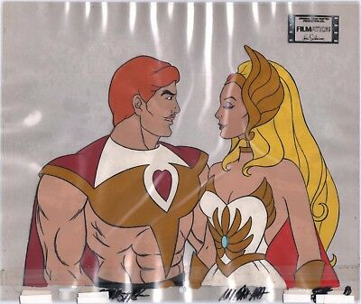 She-Ra Princess of Power and Bow Production Art Cel Filmation
