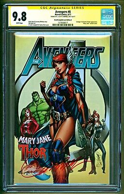 Avengers #8 Cover B Thor Mary Jane Variant Signed J Scott Campbell SS CGC 9.8