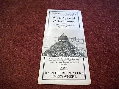 Neat 1916 John Deere Spreader Brochure, Wide Spread Attachment! LOOK