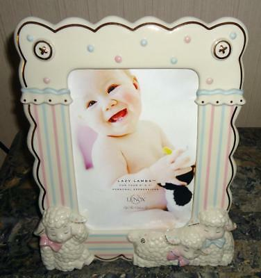 Lenox Lazy Lambs Baby Collection Fine China 5 x 7 Photo Picture Frame New 771577