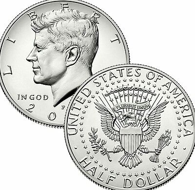 2016 P&d Set Kennedy Half Dollar Clad Two Uncirculated U.s.mint Coins