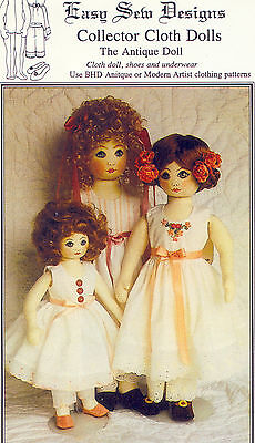 Toddler Cloth Doll Pattern Shoes Underwear Collector Cloth Dolls BHD 1310