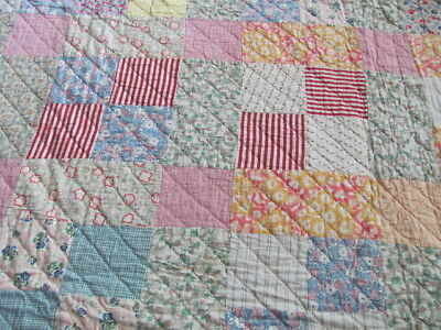 Vintage cotton quilt lots feed sack fabric hand quilted