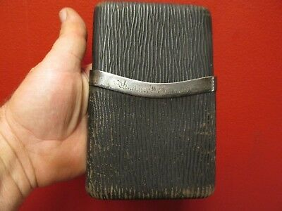 Antique GORHAM Sterling Silver and LEATHER Cigar Case, NO.1839