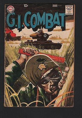 G.I. Combat #81 G/VG 3.0 Cream to Off White Pages GREY TONE COVER