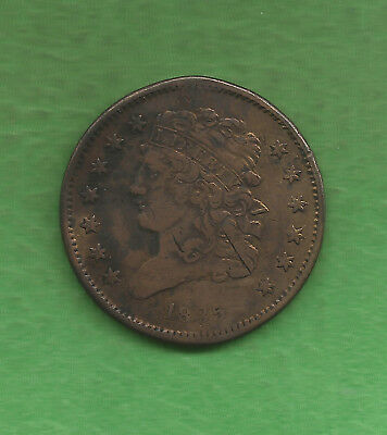 1835 Classic Head, Half Cent, Reverse Rotated 30-45 Degrees - 182 Years Old!