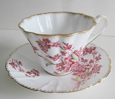 Royal Stafford Bone China Pink Wild Forget-Me-Nots Cup & Saucer Set