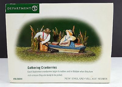 Dept 56 Gathering Cranberries New England Village Accessory 56644