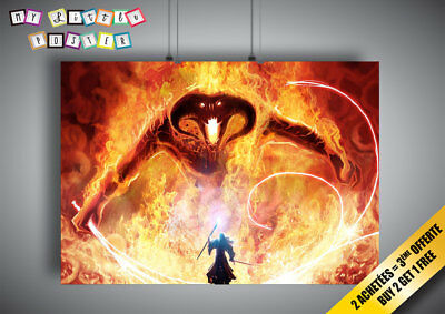 Poster Balrog Gandalf Battle Lord of the Rings Lords of Rings