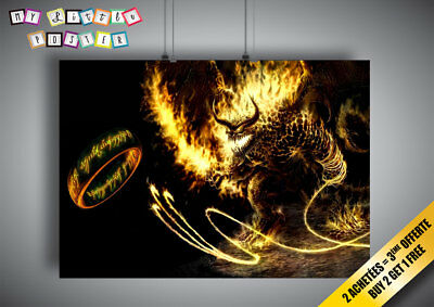 Poster Balrog Lord of the Rings Lords of Rings