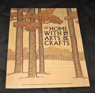 2017 At Home with Arts & Crafts Exhibit SFO Museum Airport Brochure-Pottery Lamp