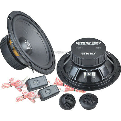 Peugeot 206 1998 onwards Ground Zero car speakers 165mm component front