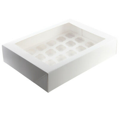 Cupcake Box with Window Lid with Insert to hold 6 12 or 24 cupcakes NEW