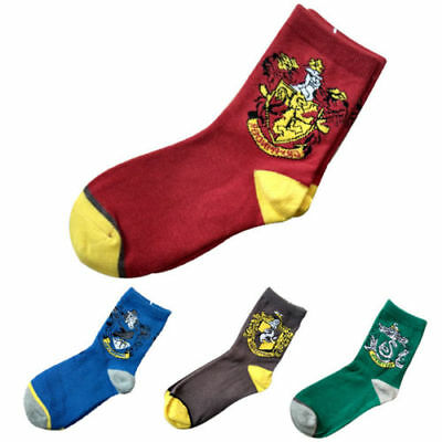 Harry Potter Socks Gryffindor/ Slytherin /Hufflepuff/Ravenclaw House Logo Socks