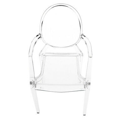 1/6 Scale Dolls House Furniture Plastic Ghost Chair Armchair For Barbie Doll
