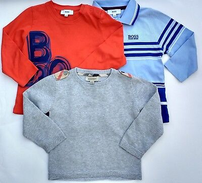 Burberry & Hugo Boss:  Designer baby boys' tops bundle : age 18-24 m VGC