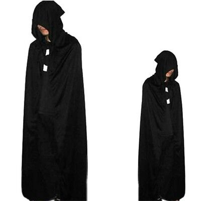 Gothic Hooded Cloak Wicca Robe Medieval Witchcraft-Cape Fancy Dress Halloween