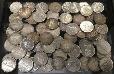 60 CANADA .800 SILVER DOLLARS (36.0 TrOz ACTUAL SILVER WT) MUST SEE > NO RESERVE