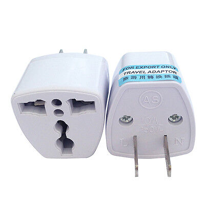 Universal Tour EU UK AU to US USA AC Travel Power Plug Adapter Outlet Converter