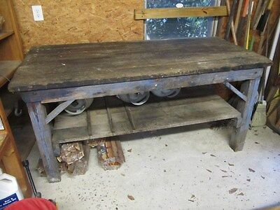 early 1900s blacksmith's workbench