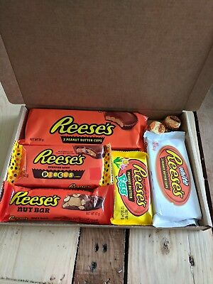 Reese's American Chocolate Gift Box Hamper Chocolates Christmas Reeses Pieces