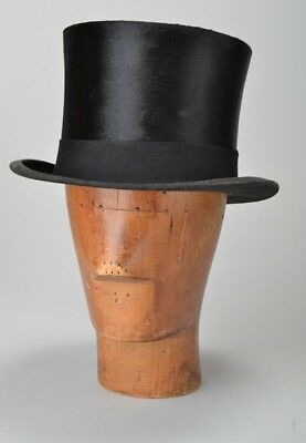 Foxhunting Gentlemans Size 6 3/4 Kirsop Boxed 1920s' Black Silk Top Hat. BQO