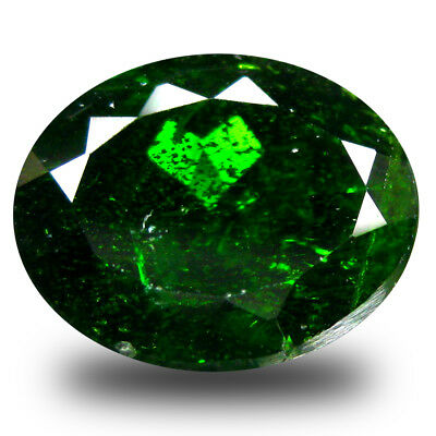 4.43 ct  Pretty Oval Shape (11 x 9 mm) Green Chrome Diopside Natural Gemstone