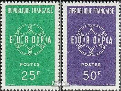 France 1262-1263 (complete issue) unmounted mint / never hinged 1959 CEPT 59