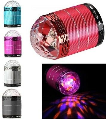 Rechargeable Wired Disco Ball Party Music Speaker & LED Flashing Light Show UK