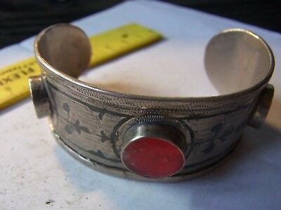 Old Silver Beautiful Bracelet With Stones