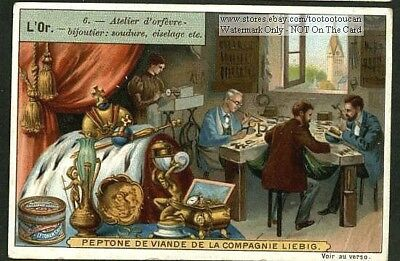 Goldsmith Work Shop In 1900 c1903 Trade Ad Card