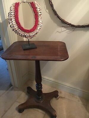 Antique Mahoganny occasional table on beautiful pedestal