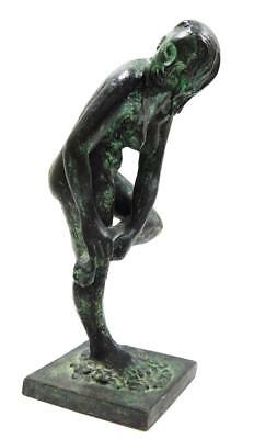 """Cast Bronze Sculpture Of Nude Woman Signed """"a.v.t."""" Beautiful Work!"""