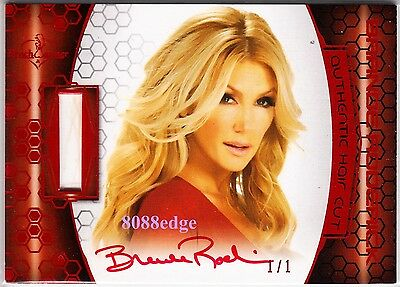 2012 Benchwarmer Soccer Hair Cut Auto: Brande Roderick #1/1 Of One Red Autograph