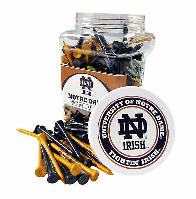 NEW Team Golf NCAA Notre Dame Irish Blue/Gold 175 Count 2-3/4' Jar Of Tees