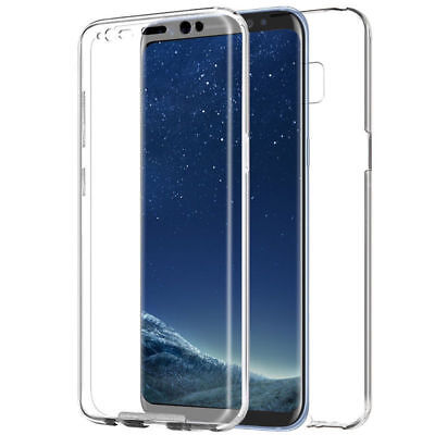 For Samsung Slim 360° Front Back Full Cover Clear Ombre Soft Tpu Gel Phone Case